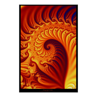 Fractal Fire Posters