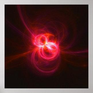 Fractal Flame : Opal I Poster