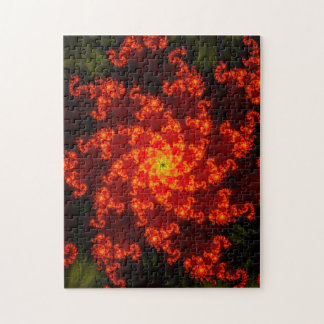 Fractal Flame Pattern Jigsaw Puzzle