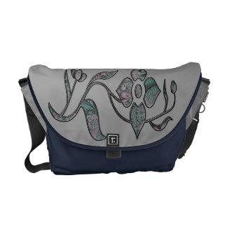 Fractal Floral Cutout Messenger Bag