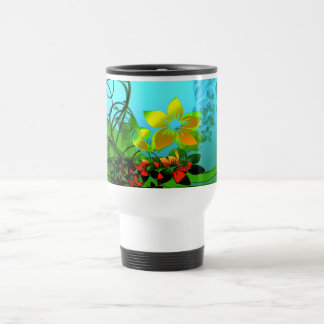 Fractal Flower Elegance Travel Mug