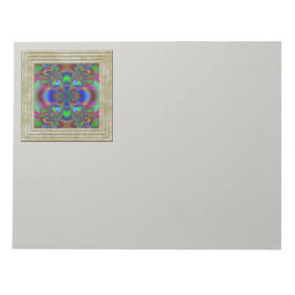 Fractal Flower In Multi Colors Notepad