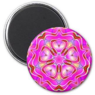 Fractal Flower Mandala Sacred Geometry Magnet