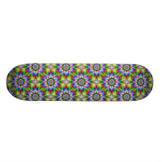Fractal Flower Tiled Skateboard