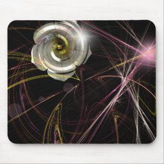 """Fractal Gardenia"" Mousepad"