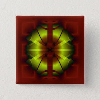 Fractal Geometry 15 Cm Square Badge