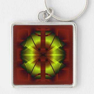 Fractal Geometry Key Ring