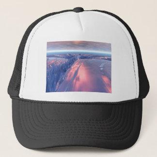 Fractal Glacier Landscape Trucker Hat
