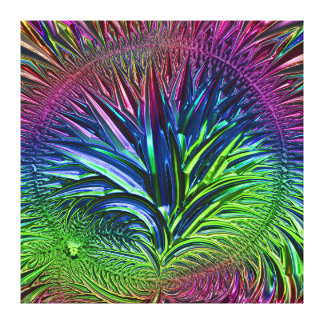 Fractal Glass 5A Gallery Wrapped Canvas