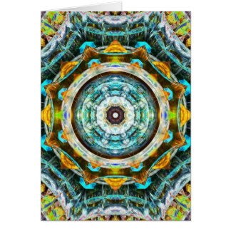 Fractal Glass Kaleidoscope Card