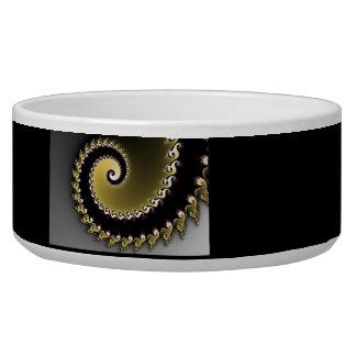 Fractal. Gold, silver, black.