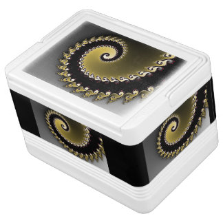 Fractal. Gold, silver, black. Cooler