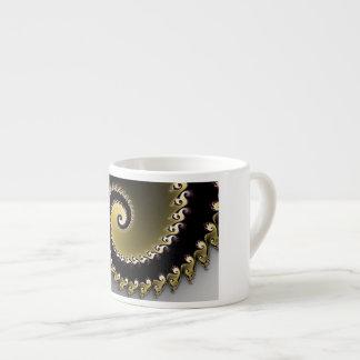 Fractal. Gold, silver, black. Espresso Cup