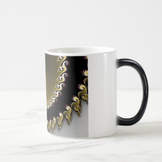Fractal. Gold, silver, black. Magic Mug