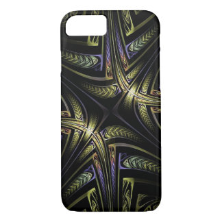 Fractal Golden Celtic Apple iPhone 7, Barely There iPhone 8/7 Case