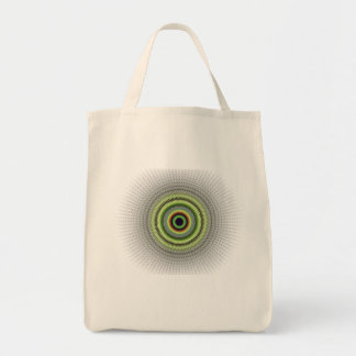 Fractal Gray Misty Owl Eye Tote Bag