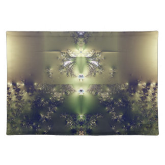 Fractal green American MoJo Placemat