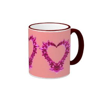 Fractal Heart Ringer Mug