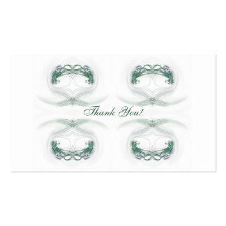Fractal Hearts Thank You Gift Tags Business Card Templates