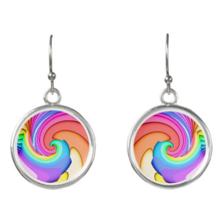 Fractal Ice Cream Swirl Earrings