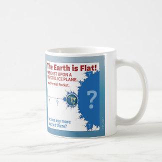 Fractal Ice Plane Poster Mug