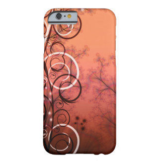 Fractal image in bronze and spirals barely there iPhone 6 case