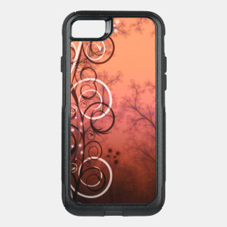 Fractal image in bronze and spirals OtterBox commuter iPhone 7 case