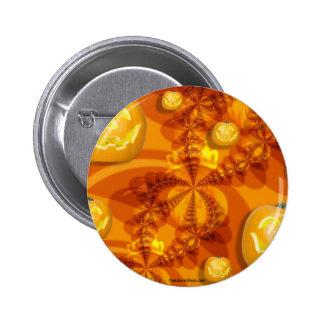 Fractal Jack-O-Lanterns Pinback Buttons