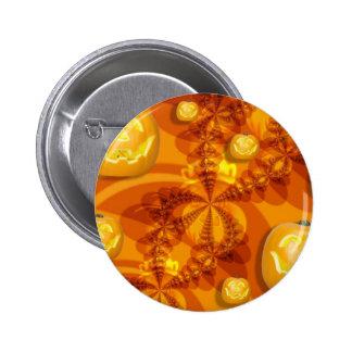Fractal Jack-O-Lanterns Buttons