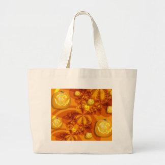 Fractal Jack-O-Lanterns Canvas Bag
