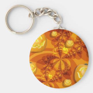 Fractal Jack-O-Lanterns Keychain