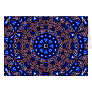 Fractal Kaleidoscope Art 670 Card
