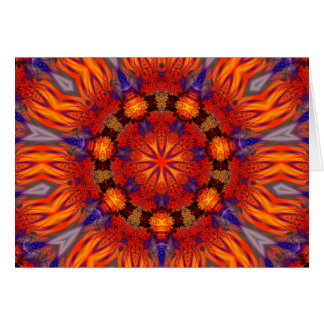 Fractal Kaleidoscope Art 726 Card