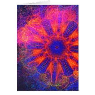 Fractal kaleidoscope explosion vertical card