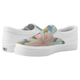 Fractal Kaleidoscope Printed Shoes