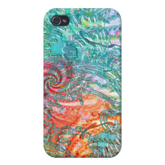 Fractal-Layer Fantasy Ocean Theme iPhone Case iPhone 4/4S Cases