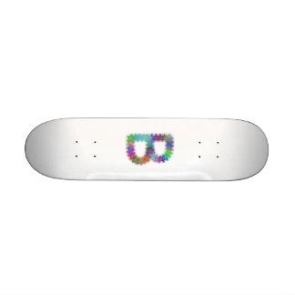 Fractal letter B monogram Custom Skateboard