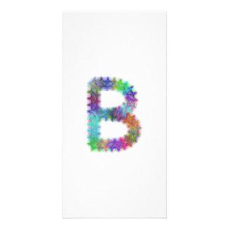 Fractal letter B monogram Photo Cards