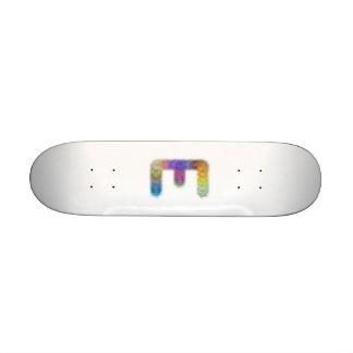 Fractal letter E monogram Skateboard
