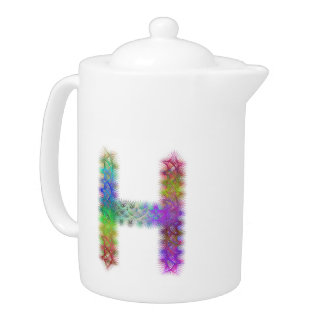Fractal letter H monogram