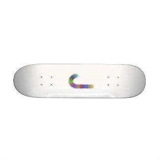 Fractal letter J monogram Skate Board Deck