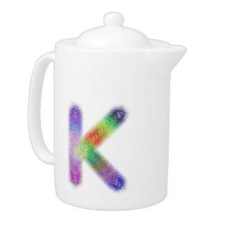 Fractal letter K monogram