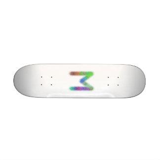 Fractal letter M monogram Custom Skate Board