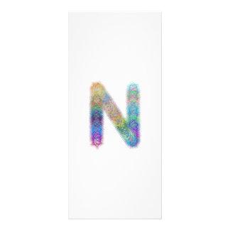 Fractal letter N monogram Rack Cards