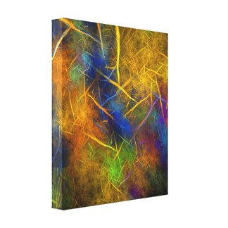 Fractal Lightning (Storm Flame) Canvas Print