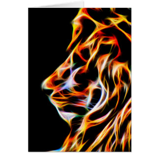 Fractal Lion Birthday Greeting Card