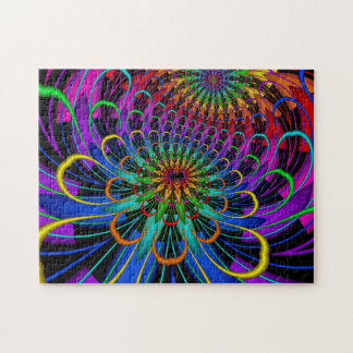 Fractal Lotus Dream Jigsaw Puzzle