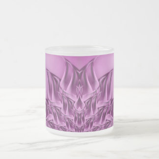 Fractal Lotus Flower Abstract Frosted Glass Mug