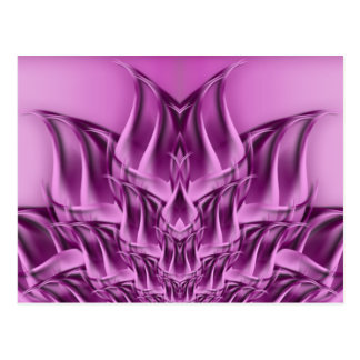 Fractal Lotus Flower Abstract Postcards