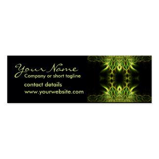 Fractal Lotus Profile Card Pack Of Skinny Business Cards
